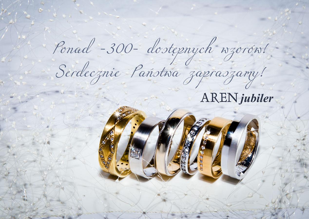 obrączeki ślubne Aren Jubiler - ponad 300 wzorów dostępnych od ręki - poradnik ślubny wedding planner