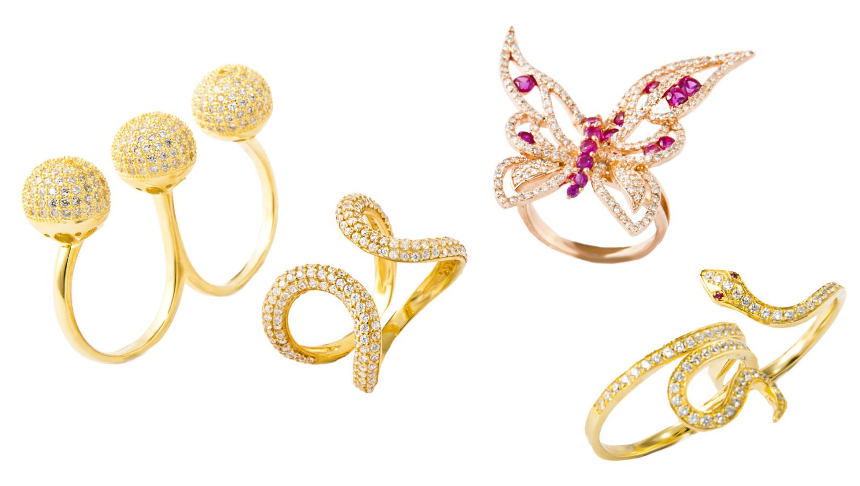 zestaw złotej biżuterii